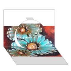 Fall Flowers No. 2 Circle 3D Greeting Card (7x5)  by timelessartoncanvas