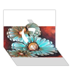 Fall Flowers No  2 Ribbon 3d Greeting Card (7x5)  by timelessartoncanvas