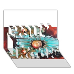 Fall Flowers No  2 You Rock 3d Greeting Card (7x5)  by timelessartoncanvas