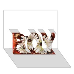 Fall Flowers No  3 Boy 3d Greeting Card (7x5) by timelessartoncanvas