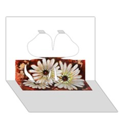 Fall Flowers No  3 Clover 3d Greeting Card (7x5)  by timelessartoncanvas