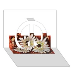 Fall Flowers No  3 Peace Sign 3d Greeting Card (7x5)  by timelessartoncanvas