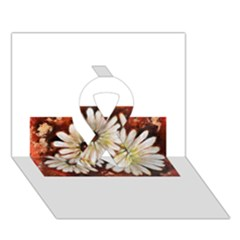 Fall Flowers No  3 Ribbon 3d Greeting Card (7x5)