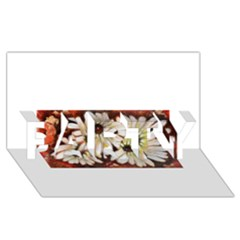 Fall Flowers No  3 Party 3d Greeting Card (8x4)  by timelessartoncanvas