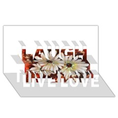 Fall Flowers No  3 Laugh Live Love 3d Greeting Card (8x4)  by timelessartoncanvas
