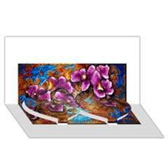 Fall Flowers No  5 Twin Heart Bottom 3d Greeting Card (8x4)  by timelessartoncanvas