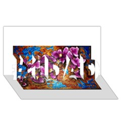 Fall Flowers No  5 #1 Dad 3d Greeting Card (8x4)