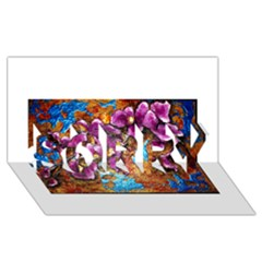 Fall Flowers No  5 Sorry 3d Greeting Card (8x4)  by timelessartoncanvas