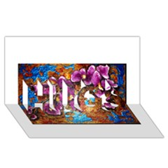 Fall Flowers No  5 Hugs 3d Greeting Card (8x4)  by timelessartoncanvas