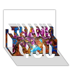 Fall Flowers No  5 Thank You 3d Greeting Card (7x5)