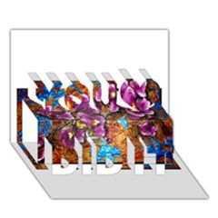 Fall Flowers No  5 You Did It 3d Greeting Card (7x5) by timelessartoncanvas