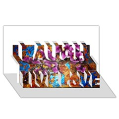 Fall Flowers No  5 Laugh Live Love 3d Greeting Card (8x4)  by timelessartoncanvas
