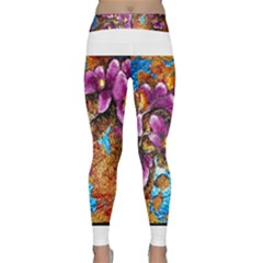 Fall Flowers No  5 Yoga Leggings by timelessartoncanvas