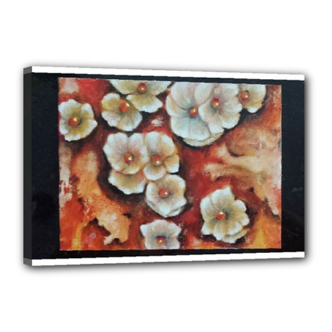 Fall Flowers No  6 Canvas 18  X 12  by timelessartoncanvas