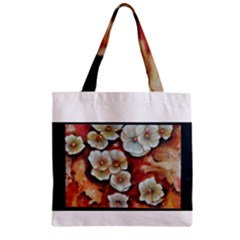 Fall Flowers No  6 Zipper Grocery Tote Bags by timelessartoncanvas
