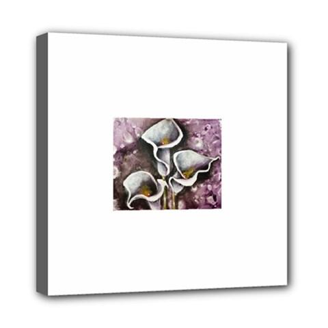 Gala Lilies Mini Canvas 8  X 8  by timelessartoncanvas