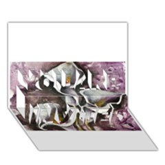 Gala Lilies You Are Invited 3d Greeting Card (7x5)  by timelessartoncanvas