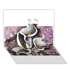 Gala Lilies Apple 3d Greeting Card (7x5)  by timelessartoncanvas