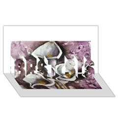 Gala Lilies Best Sis 3d Greeting Card (8x4)  by timelessartoncanvas