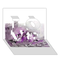Shades Of Purple Love 3d Greeting Card (7x5)