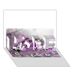 Shades Of Purple Hope 3d Greeting Card (7x5)