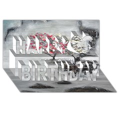 Mountains, Trees And Fog Happy Birthday 3d Greeting Card (8x4)  by timelessartoncanvas