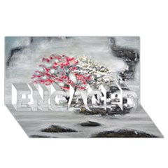 Mountains, Trees And Fog Engaged 3d Greeting Card (8x4)  by timelessartoncanvas
