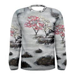 Mountains, Trees And Fog Men s Long Sleeve T Shirts