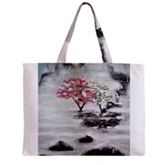Mountains, Trees And Fog Zipper Tiny Tote Bags