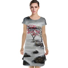 Mountains, Trees and Fog Cap Sleeve Nightdresses by timelessartoncanvas