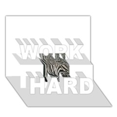 Unique Zebra Design Work Hard 3d Greeting Card (7x5)