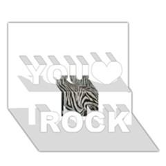 Unique Zebra Design You Rock 3d Greeting Card (7x5)  by timelessartoncanvas