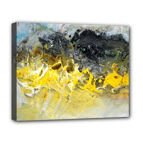 Bright Yellow Abstract Deluxe Canvas 20  X 16   by timelessartoncanvas