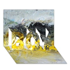 Bright Yellow Abstract Boy 3d Greeting Card (7x5)