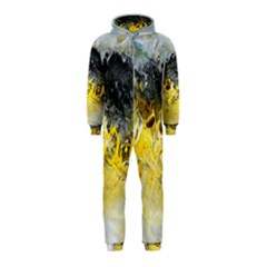Bright Yellow Abstract Hooded Jumpsuit (kids)