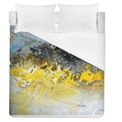 Bright Yellow Abstract Duvet Cover Single Side (full/queen Size)