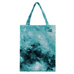 Turquoise Abstract Classic Tote Bags