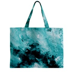 Turquoise Abstract Zipper Tiny Tote Bags by timelessartoncanvas