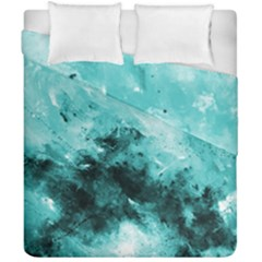 Turquoise Abstract Duvet Cover (double Size) by timelessartoncanvas