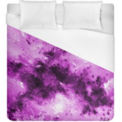 Bright Pink Abstract Duvet Cover Single Side (kingsize) by timelessartoncanvas