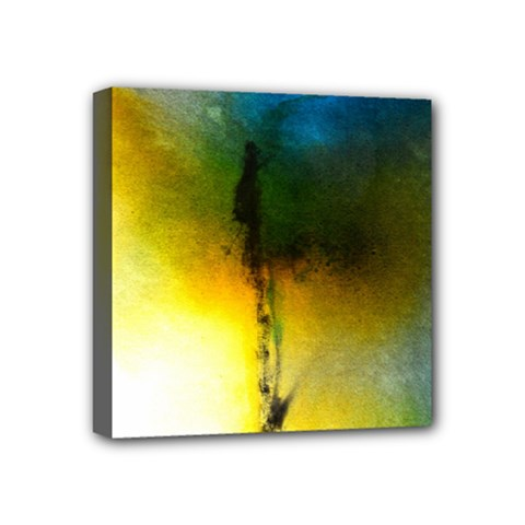 Watercolor Abstract Mini Canvas 4  X 4  by timelessartoncanvas