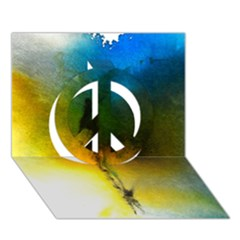 Watercolor Abstract Peace Sign 3d Greeting Card (7x5)