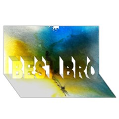Watercolor Abstract Best Bro 3d Greeting Card (8x4)