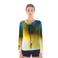 Watercolor Abstract Women s Long Sleeve T Shirts