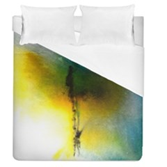 Watercolor Abstract Duvet Cover Single Side (full/queen Size) by timelessartoncanvas
