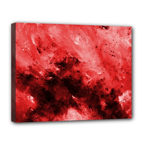 Red Abstract Canvas 14  X 11  by timelessartoncanvas