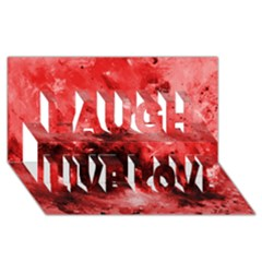 Red Abstract Laugh Live Love 3d Greeting Card (8x4)