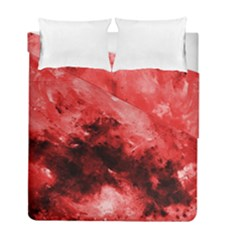 Red Abstract Duvet Cover (twin Size) by timelessartoncanvas