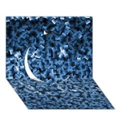 Blue Cubes Circle 3d Greeting Card (7x5)  by timelessartoncanvas