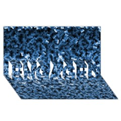 Blue Cubes Engaged 3d Greeting Card (8x4)  by timelessartoncanvas